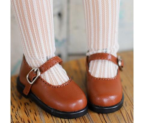 Bjd靴  ドール靴  シンプルな靴 チョコレートの色 人形靴 1/4 1/6