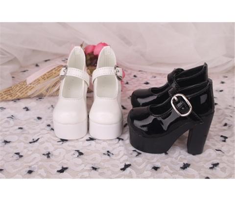 Bjd靴 ドール靴 ハイヒール 黒白 人形靴 1/3 1/4 単独で購入できない