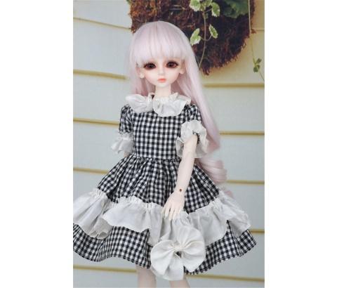 ドール衣装 黒白スカート蝶結び BJD衣装 1/4 サイズが注文できる