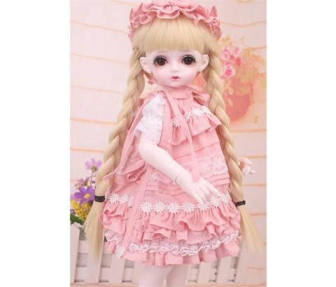 ドール衣装 bambi 巨児 ピンクスーツBJD衣装 1/4 サイズが注文できる