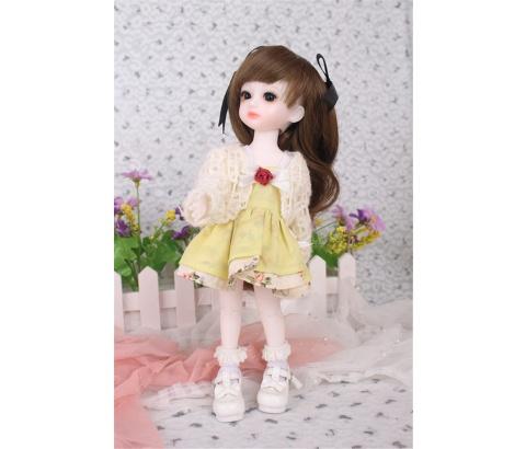 ドール衣装 黄色洋服 スカート BJD衣装 1/3 1/4 1/6 サイズが注文できる