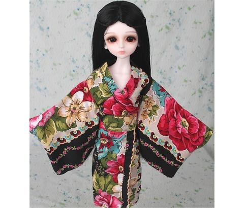 ドール衣装 日本風 和服 BJD衣装 1/3 1/4 1/6 サイズが注文できる