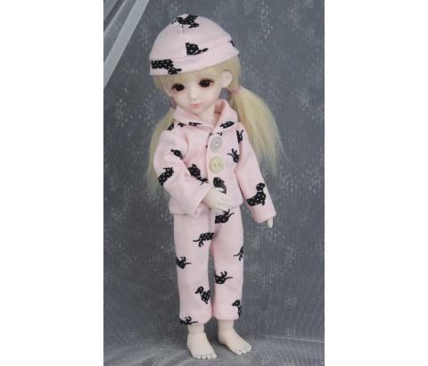 ドール衣装 BB ピンクパジャマ BJD衣装 1/6 サイズが注文できる