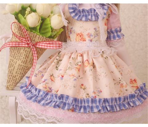 ドール衣装 花柄 田園風 BJD衣装 1/3 1/4 1/6 サイズが注文できる