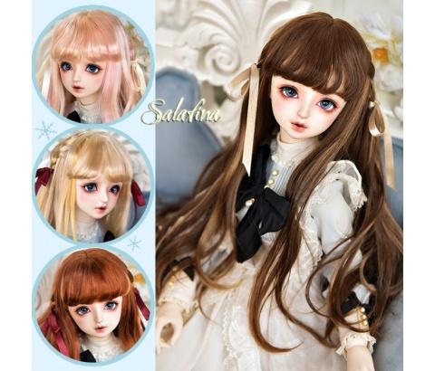 ドール用ウィッグ 人形ウィッグ  ロングヘア 弁髪 1/3/1/4/1/6サイズ 超柔らかい糸