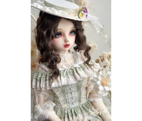 ドール用ウィッグ  人形ウィッグ フランス式淑女カールヘア  1/3/1/4/1/6サイズ 超柔らかい糸