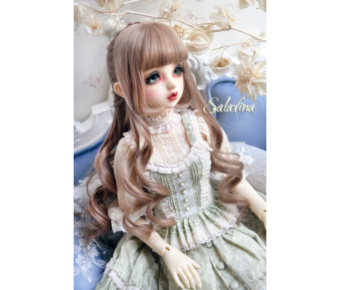 ドール用ウィッグ  人形ウィッグ  Anna カールヘア 1/3/1/4/1/6サイズ 高温糸 BJD SD