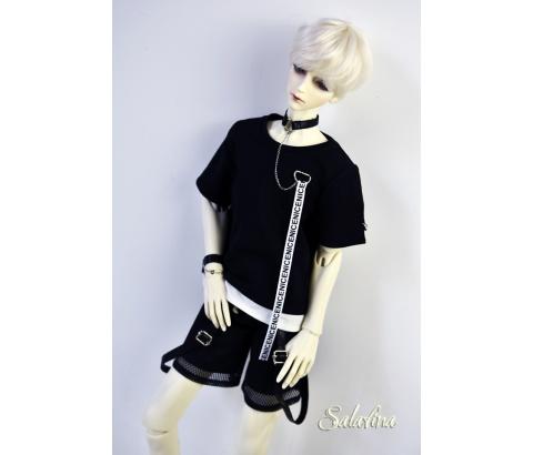 ドール衣装 SalaXCrazy Bear 上着+ズボン+腕飾り BJD衣装 大1/3サイズ