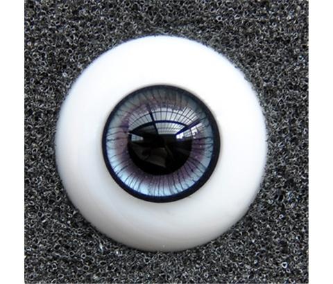 ガラスアイ SD BJD ドール用ガラスアイ「超自然深灰」アイリス 三白眼 141618mm