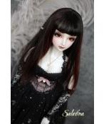 ドール用ウィッグ 人形ウィッグ  ロングヘア 黑赤混色 1/3/1/4/1/6サイズ 超柔らかい糸