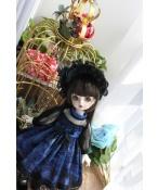 ドール衣装  ワンピース 青色 スカート BJD洋服 1/3/1/4/1/6サイズ BJD衣装