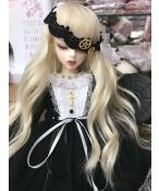 ドール衣装  ワンピース  スカード BJD洋服 1/3/1/4/1/6サイズ BJD衣装 ブラック
