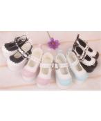 Bjd靴  ドール靴  縁飾りハイヒール 人形靴 1/4 単独で購入できない