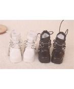 Bjd靴  ドール靴  ロザリオ 短靴 黒白 人形靴 1/4 単独で購入できない