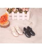 Bjd靴 ドール靴 心の形 黒白 人形靴 1/4 単独で購入できない
