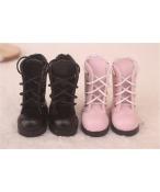 Bjd靴 ドール靴 可愛い長靴 ピンク黒 人形靴 1/6 単独で購入できない