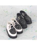 Bjd靴 ドール靴 リベット 黒白 男子人形靴 1/3 単独で購入できない