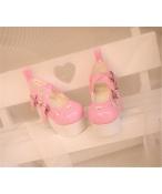 Bjd靴  ドール靴 心の形 カーディガン 厚底 人形靴 1/4 単独で購入できない
