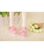 Bjd靴  ドール靴 ピンク ハイヒール 厚底 人形靴 1/4 単独で購入できない