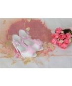 Bjd靴  ドール靴 ピンク花 ハイヒール 人形靴 1/3 単独で購入できない