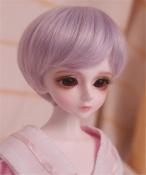 人形ウィッグ BJDウィッグ 短髪 紫色 ショートヘア 1/6 1/4 1/3単独で購入できない