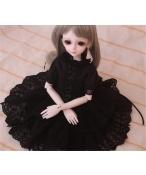 ドール衣装 黒スカート洋服 BJD衣装 1/4 サイズが注文できる