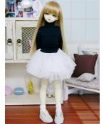 ドール衣装 ハイネック服+白レーススカート BJD衣装 1/4 サイズが注文できる
