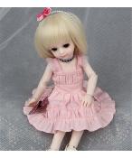 ドール衣装 ピンク 洋服 スカート BJD衣装 1/6 1/4 サイズが注文できる