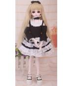 ドール衣装 黒白洋服 スカート BJD衣装 1/4 サイズが注文できる