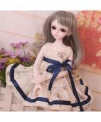 ドール衣装 花柄 洋服 蝶結び スカート BJD衣装 1/4 サイズが注文できる