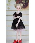 ドール衣装 黒いレース 洋服スカート BJD衣装 1/4 サイズが注文できる