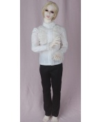 ドール衣装 白シャツ+黒ズボン スーツ  BJD衣装 1/3 サイズが注文できる
