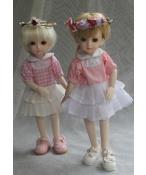 ドール衣装 かわいい ピンク スカート  BJD衣装 1/6 サイズが注文できる