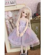 ドール衣装 ユニコーン スカート 紫色 パープル  BJD衣装 1/4/1/6サイズ