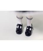 Bjd靴 ドール靴 黒の蝶結びハイヒール 1/6  単独で購入できない