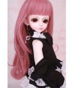 人形ウィッグ BJDウィッグ 桃色 ロングヘア 長巻き髪 1/4 単独で購入できない
