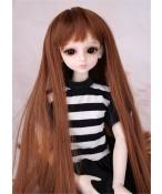 人形ウィッグ BJDウィッグ ブラウン 前髪 ロングヘア 長髪 1/4 単独で購入できない