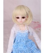 人形ウィッグ BJDウィッグ 浅金色 ショートヘア 短髪 1/4 単独で購入できない