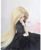 人形ウィッグ BJDウィッグ 浅金色 ロングヘア 長髪 1/4 単独で購入できない