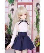 ドール衣装 日常衣装セット 白いシャツ+紺のスカート BJD衣装 サイズが注文できる