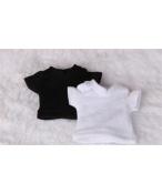 ドール衣装 日常衣装セット 黒白Tシャツ BJD衣装 サイズが注文できる