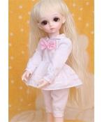 ドール衣装 かわいい ピンク白 スーツ BJD衣装 1/3 1/4 1/6 1/8 サイズが注文できる