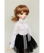 ドール衣装 白いシャツ+黒いスカート BJD衣装 1/3 1/4 1/6 サイズが注文できる