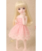 ドール衣装 ピンク 可愛いスカート BJD衣装 1/6 サイズが注文できる