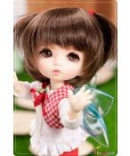 ドール本体 PFW-03 Brown for pukiFee 女の子 BJD人形 SD人形 1/8