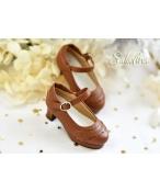 BJD靴  ドール靴 日常エンボス ハイヒール 人形靴 1/4 msd.sdm