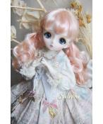 ドール用ウィッグ  人形ウィッグ  カールヘア  1/3/1/4/1/6/1/8サイズ 超柔らかい糸 BJD SD