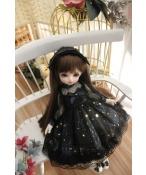 ドール衣装  黒いスカート リボン 姫系 BJD衣装 1/3/1/4/1/6サイズ