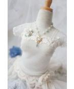 ドール用ネックレス 飾り物 1/3/1/4/1/6サイズ人形用 ブルー 氷雪の心
