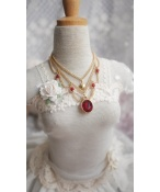 ドール用ネックレス 飾り物 1/3サイズ人形用 赤色/青色あり